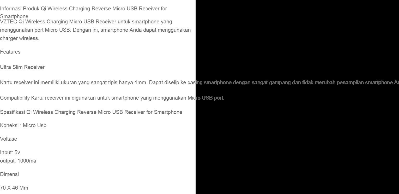 Rimas Qi Wireless Charging Reverse Micro USB Receiver For Smartphone - Casan Chargeran Wireless Hp Handpone