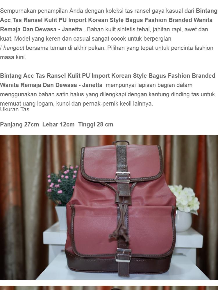 Jual Tas Ransel Kulit Import Fashion Branded Wanita Remaja Dan Dewasa  Korean Style Model K Harga a40e097d13