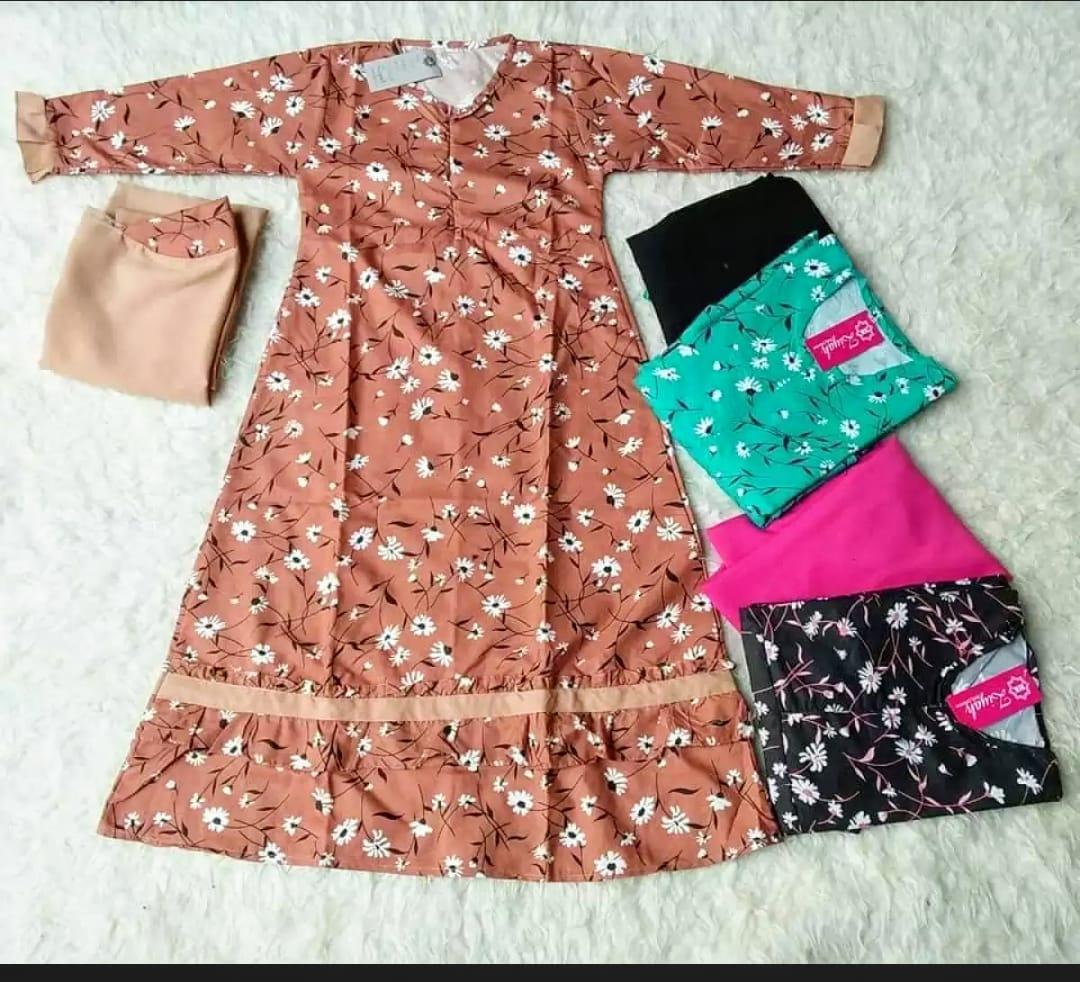 PROMO SPESIAL Gamis Anak Syari Usia 12 - 12 Tahun Motif Sunrise Termurah dan  Bergaransi / Gamis Anak Lucu / Gamis Anak Motif Bunga / Pakaian anak /