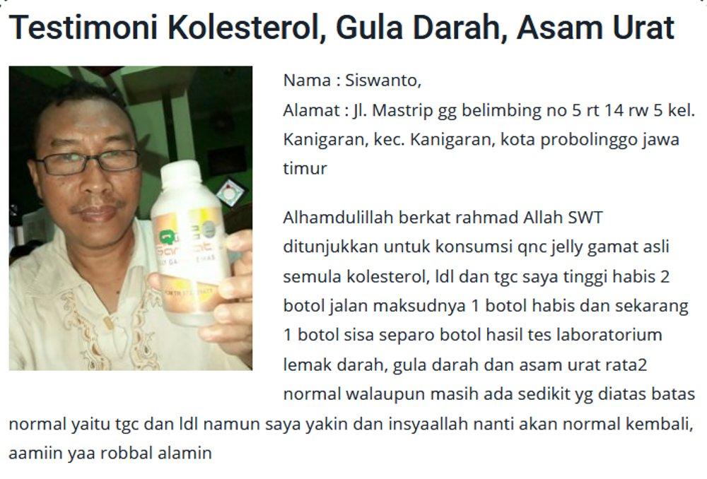 Obat Kolesterol Jahat LDL, Obat Kolesterol Tinggi dan Asam Urat, Obat Alami  Penurun Kolesterol Tinggi Yang Naik Aman Untuk Wanita Hamil dan Pada Ibu  Menyusui QnC Jelly Gamat | Lazada Indonesia
