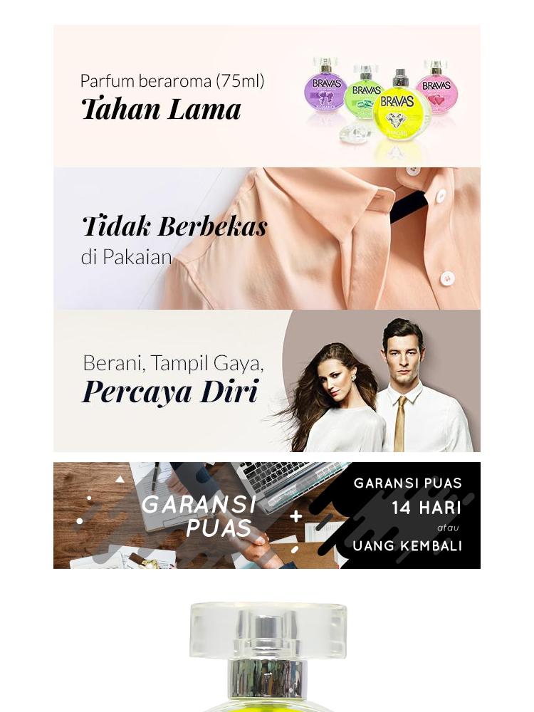 BRAVAS DIAMOND SILVER 75 ML Perfume Eau De Parfum Original Halal XX-CT Perak
