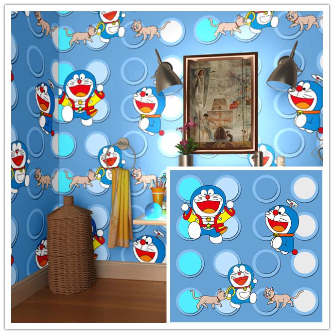 Wallpaper Doraemon Polkadot Membeli Jualan Online Stiker Dinding