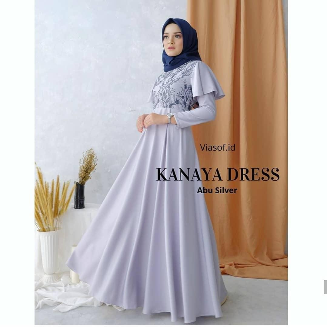 DISKON!! Kanaya Dress / COD Gamis Syari LD 11 - 11 / Gamis Ukuran M - XL  / Gamis Terbaru 11 / Gamis Wanita / Baju Gamis Polos / Dress Wanita
