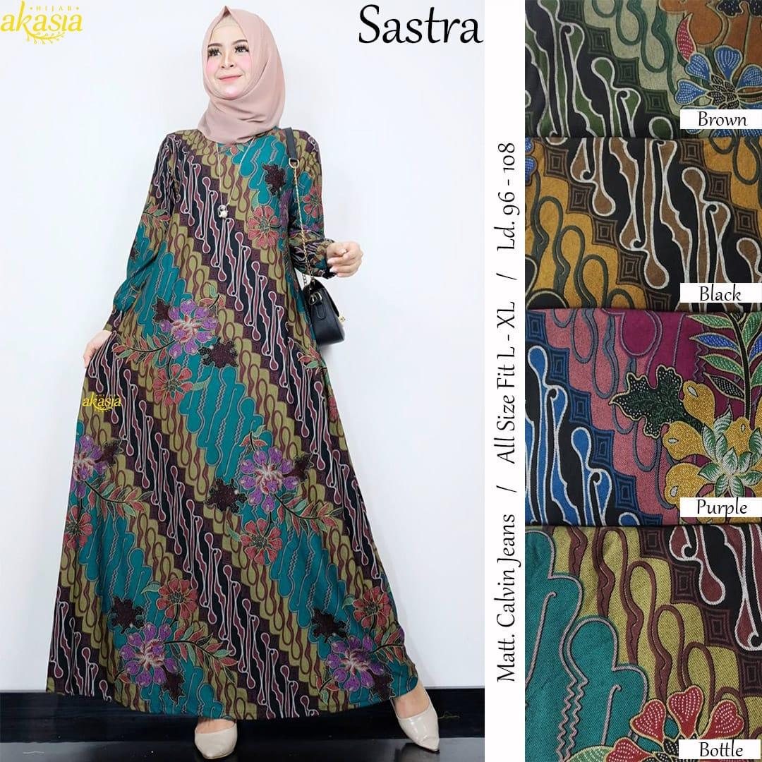Fesyen Baju Gamis Batik