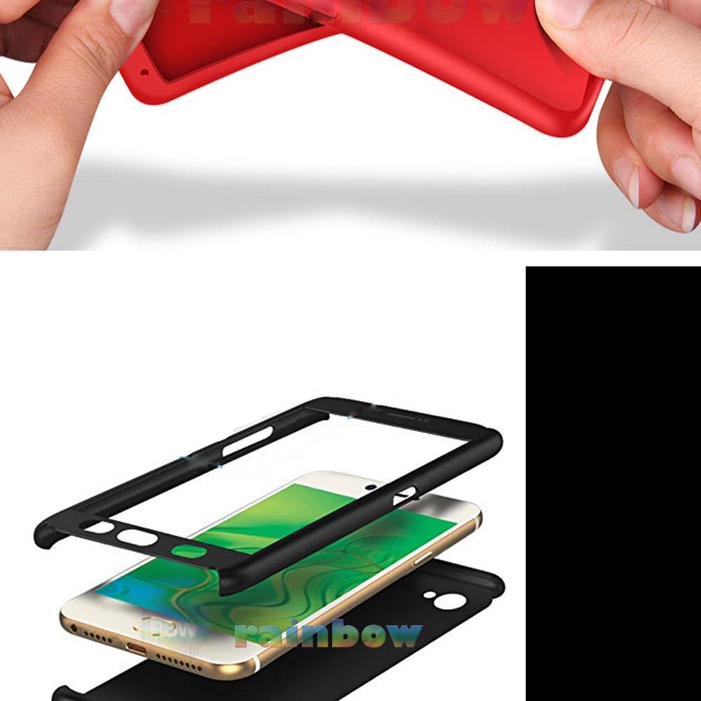 Rainbow Case 360 Vivo Y71 Black 2in1 Case Fullbody Depan Belakang 2 in 1 Double Case