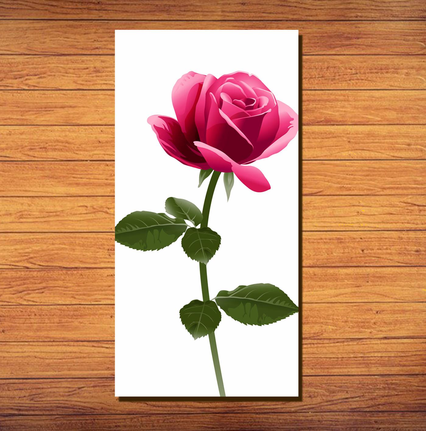 Dekorasi Rumah Hiasan Kamar Hiasan Dinding Mawar Merah Pink