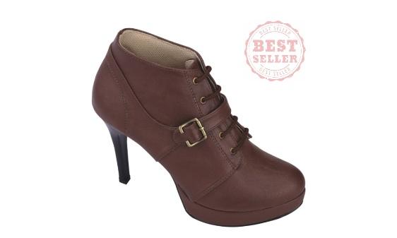 Catenzo Sepatu Wanita - Sepatu Heels - Trendy - Bestseller AYx597 Ful Brown (10 cm