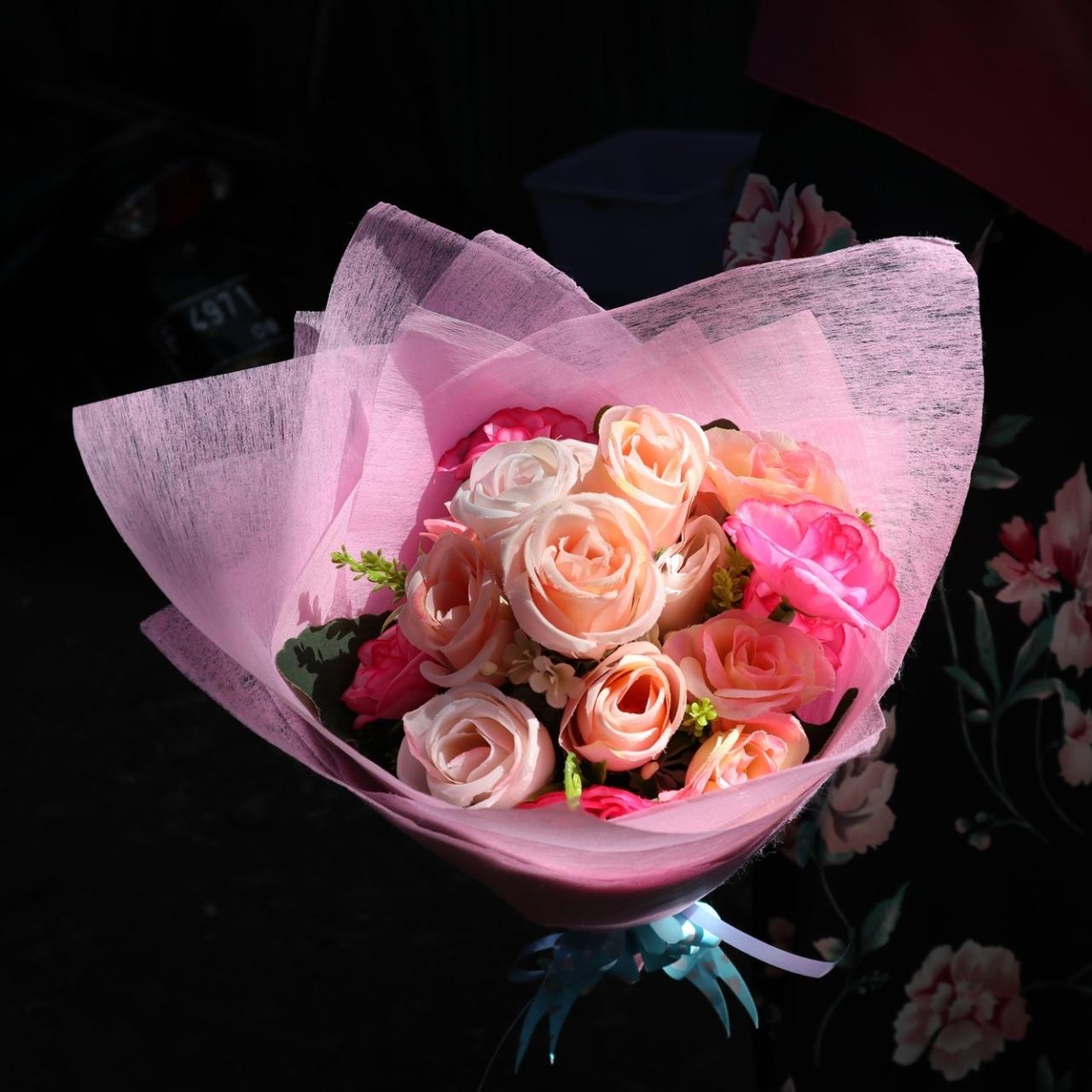 Vio Id Buket Bunga Artifisial Import Buket Bunga Mawar Cantik