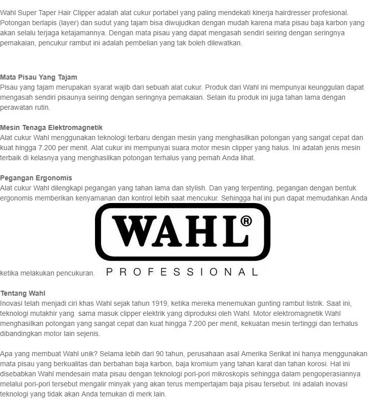 Cukuran Rambut Merk Wahlpencukur Rambut Daftar Harga Terbaru Source · Produk  Lain Clipper WAHL SUPER TAPER fca1564232