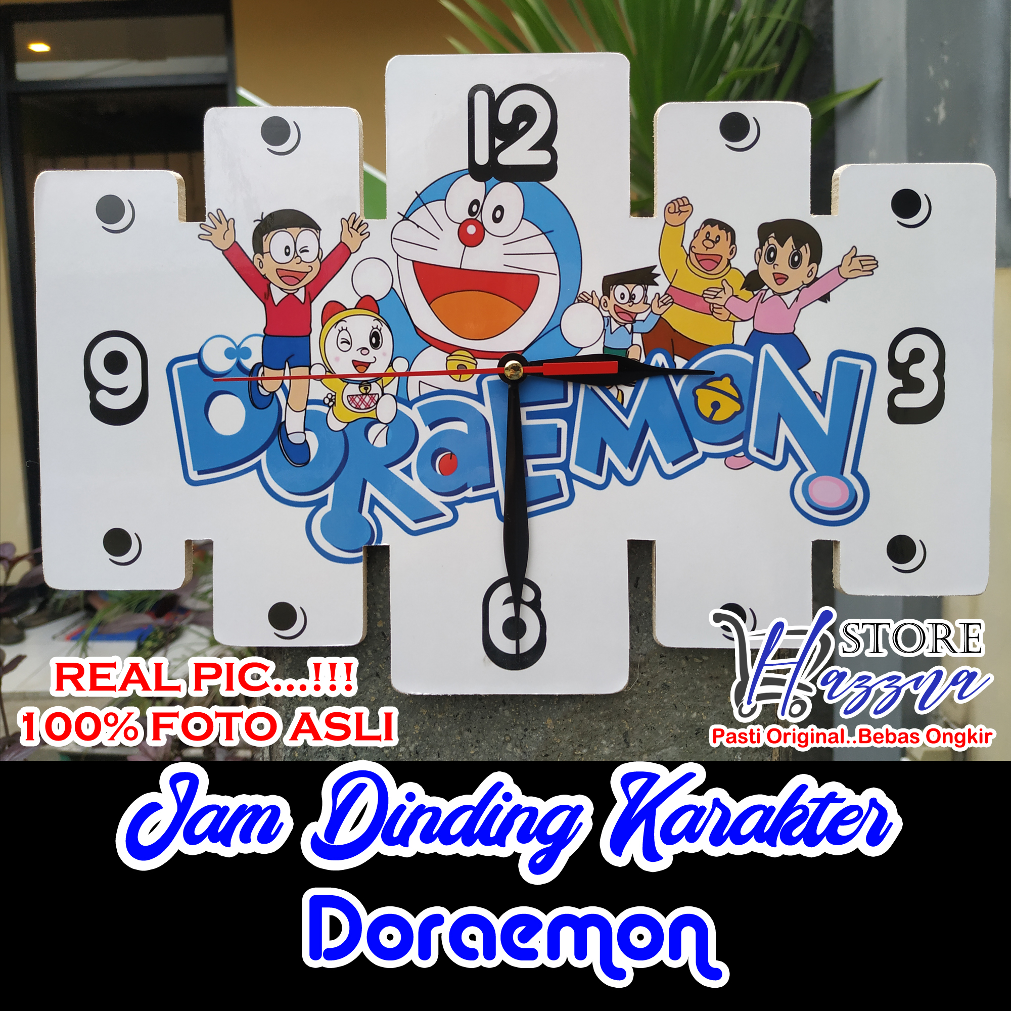 Jam Dinding Kayu Karakter Kartun Doraemon Tayo Keropi Murah COD Aksesoris Kamar Tidur Serba Doraemon Tayo Keropi Dekorasi Dinding Kamar Tidur