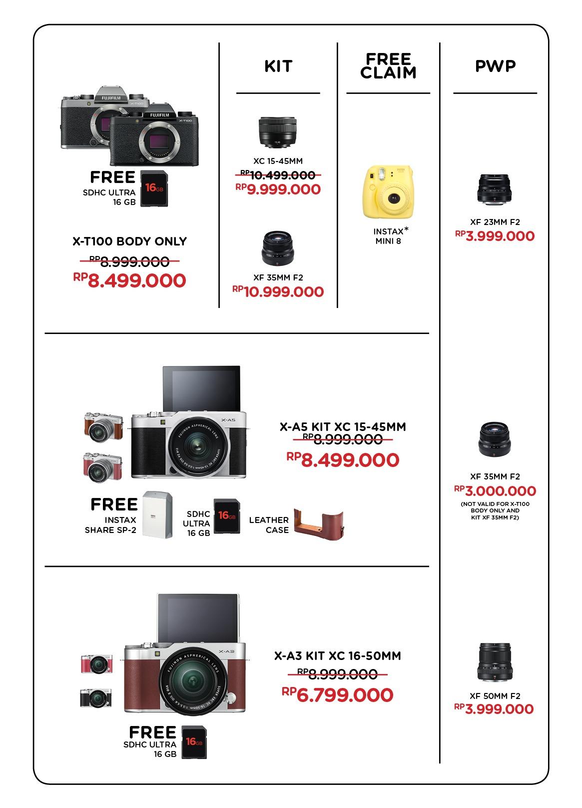 Jpc Kemang Sony Alpha A5100 Kit 16 50mm Hitam Fujifilm Xa3 Xc Free Sdhc Ultra 16gb Jpckemang Garansi Resmi