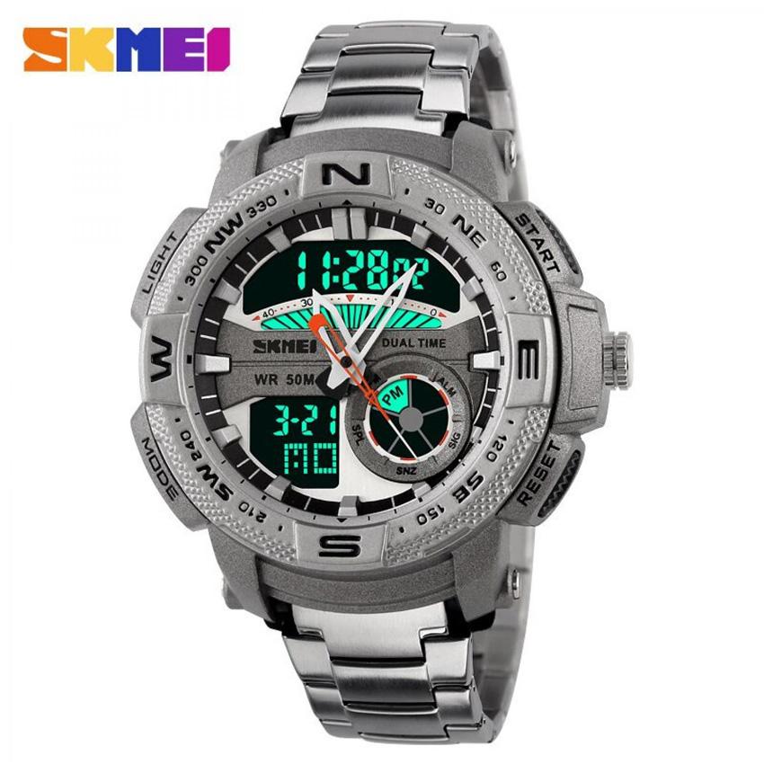 Kaca Jam tangan waterproof SKMEI AD1121 dibuat dengan material yang sangat jernih sehingga Anda tetap dapat melihat angka dengan jelas ketika di dalam air.