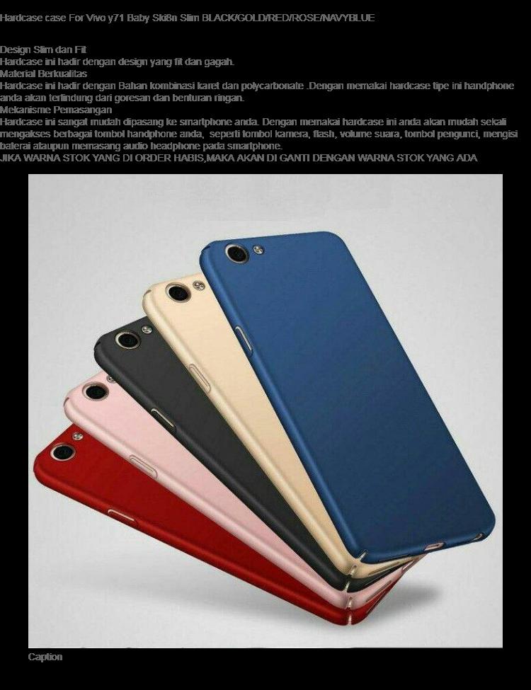 Hardcase case For Vivo y71 Baby Ski8n Slim BLACK/GOLD/RED/ROSE/NAVYBLUE