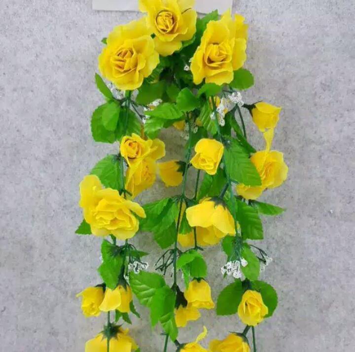 Bunga Rambat Rose Gantung Plastik Artificial Bunga Saja Bunga Mawar Rose Gantung Bunga Mawar Rambat Tanaman Hias Gantung Tanaman Gantung Plastik Bunga Daun Sulur Gantung Bunga