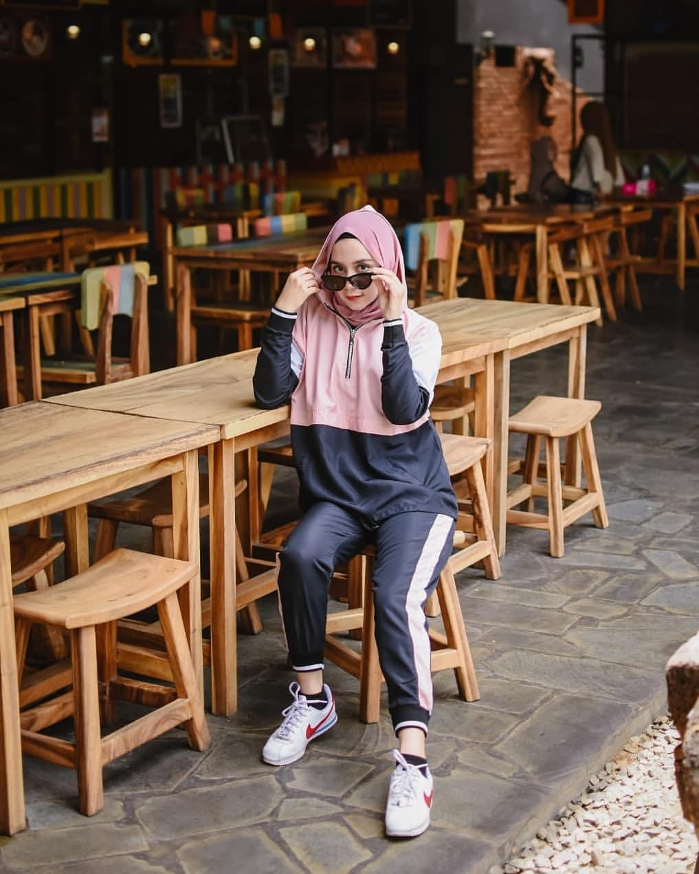 GJ Logo Sporty Set Sari Setelan Baju Sporty Wanita Setelan Jaket ...