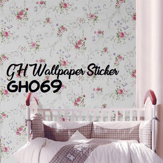Worldhome Wallpaper Stiker Dinding Motif Dan Karakter Premium Quality Size 45cm X 10m Shabby Vintage