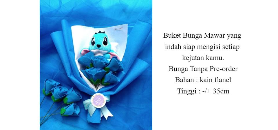 Buket Boneka Stitch Bunga Mawar Kain Flanel Buket Stitch Lazada Indonesia