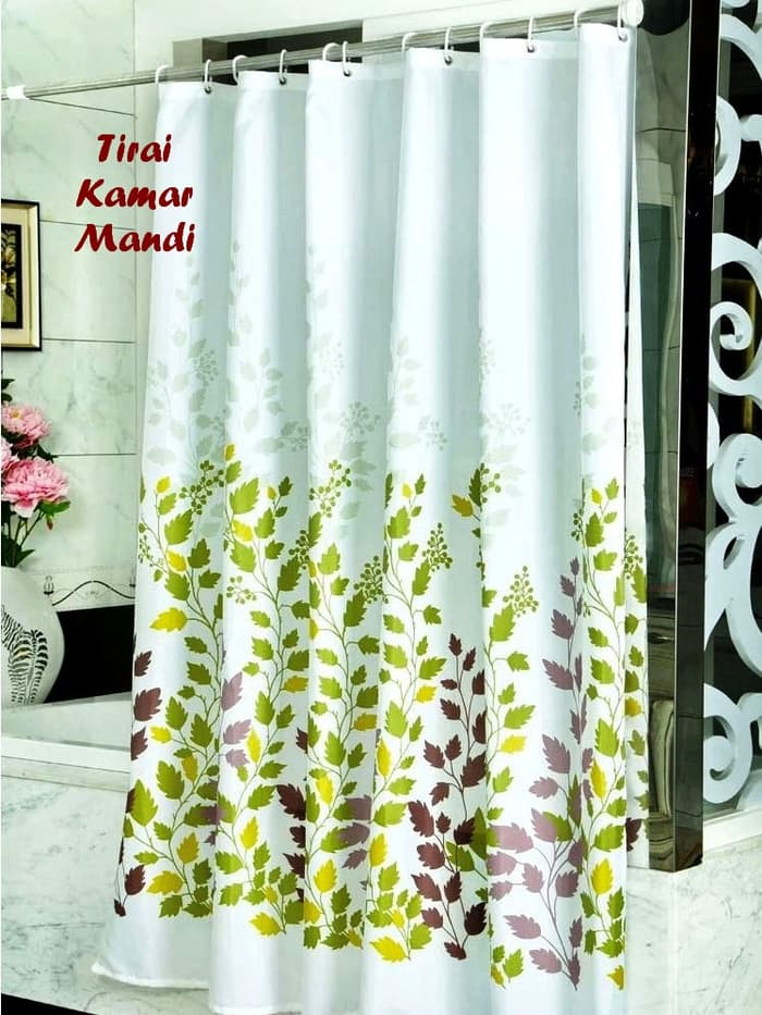 Eigia Tirai Kamar Mandi Aneka Motif Anti Air Shower Curtain Bathroom