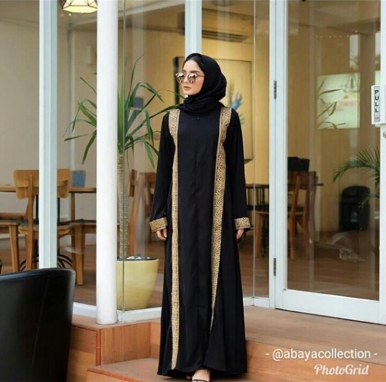 Abaya Arab Turki Turkey Dubai 99 Gamis Muslim Wanita Terbaru