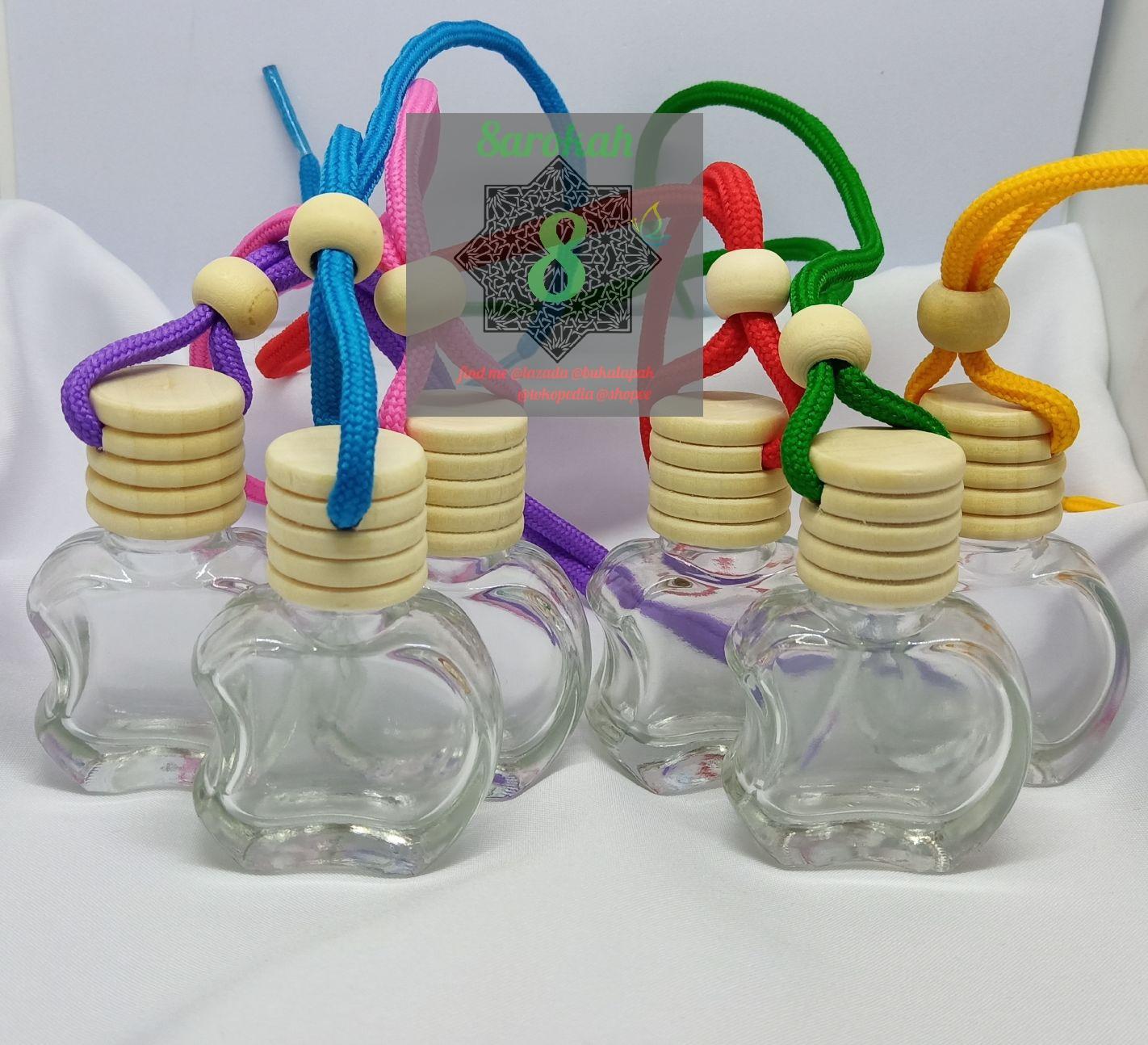 24pcs Botol Parfum Mobil Ruangan Gantung Botol Kosong Kaca