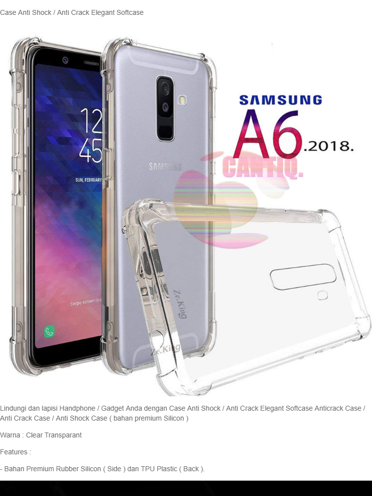 Case Anti Shock Samsung Galaxy A6 Plus 2018 Ultrathin Anti Crack Elegant Softcase Anti Jamur Air