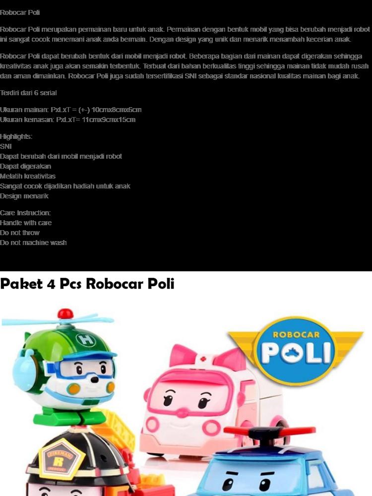 Robocar Poli Mainan Mobil Edukasi Anak - Ambulance Amber