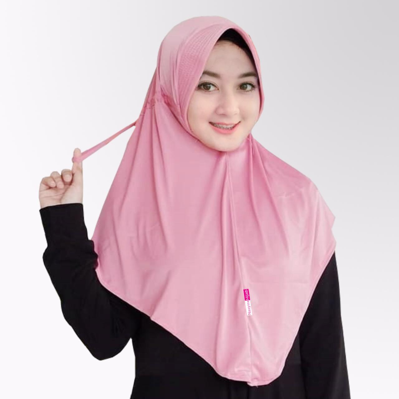 Bergo Tali Serut Sekolah Hijab Serut Belakang Kerudung Dewasa Tali Serut Jilbab Terlaris Laura Dewasa Lazada Indonesia