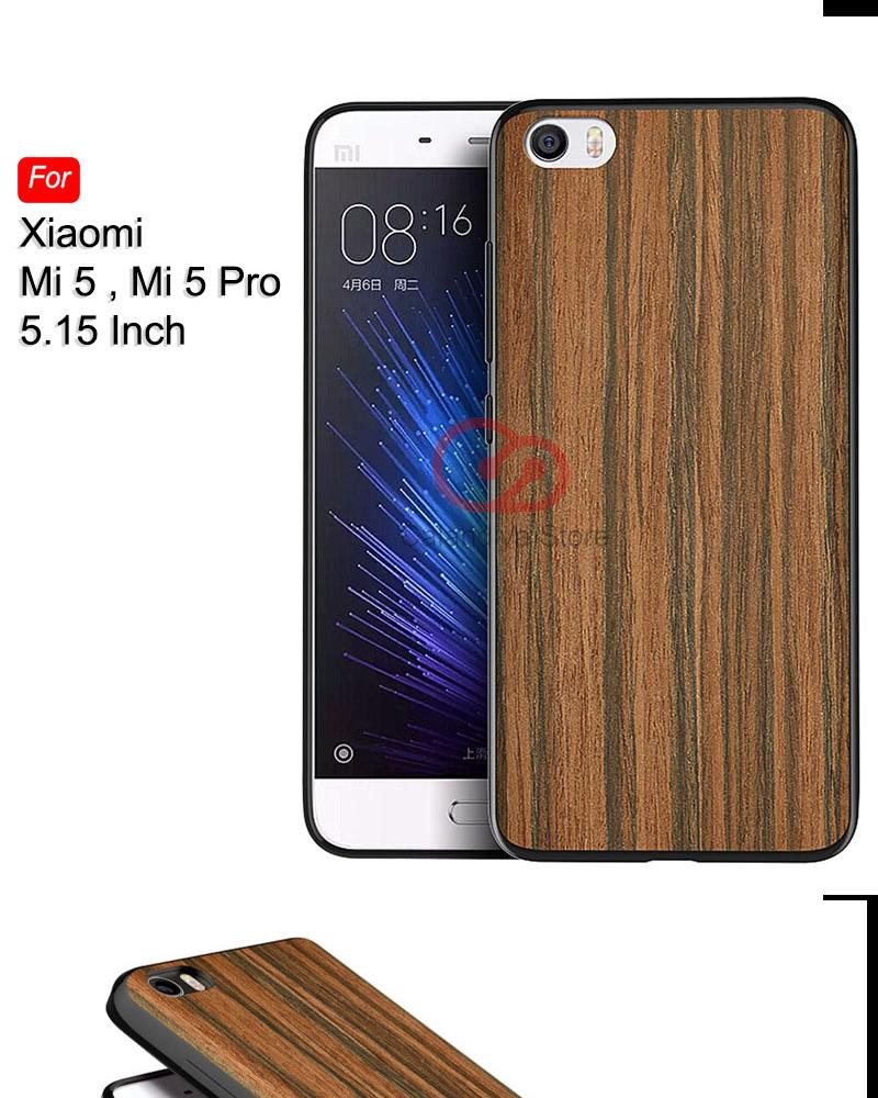 Calandiva Wood Texture Slim Softcase for Xiaomi Mi 5, Mi 5 Pro (sama ukuran