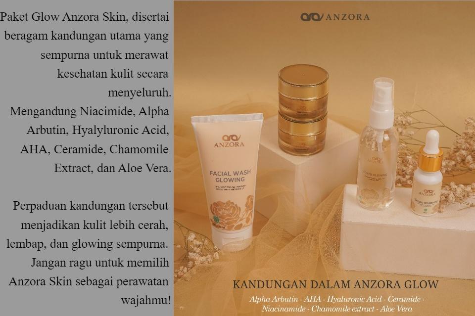 Anzora Skincare Glow Cream Pemutih Bpom Lazada Indonesia