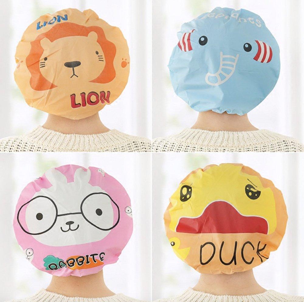 Spesifikasi dari Shower cap karakter penutup kepala anti air motif kartun / Topi Mandi Lucu / WaterProof
