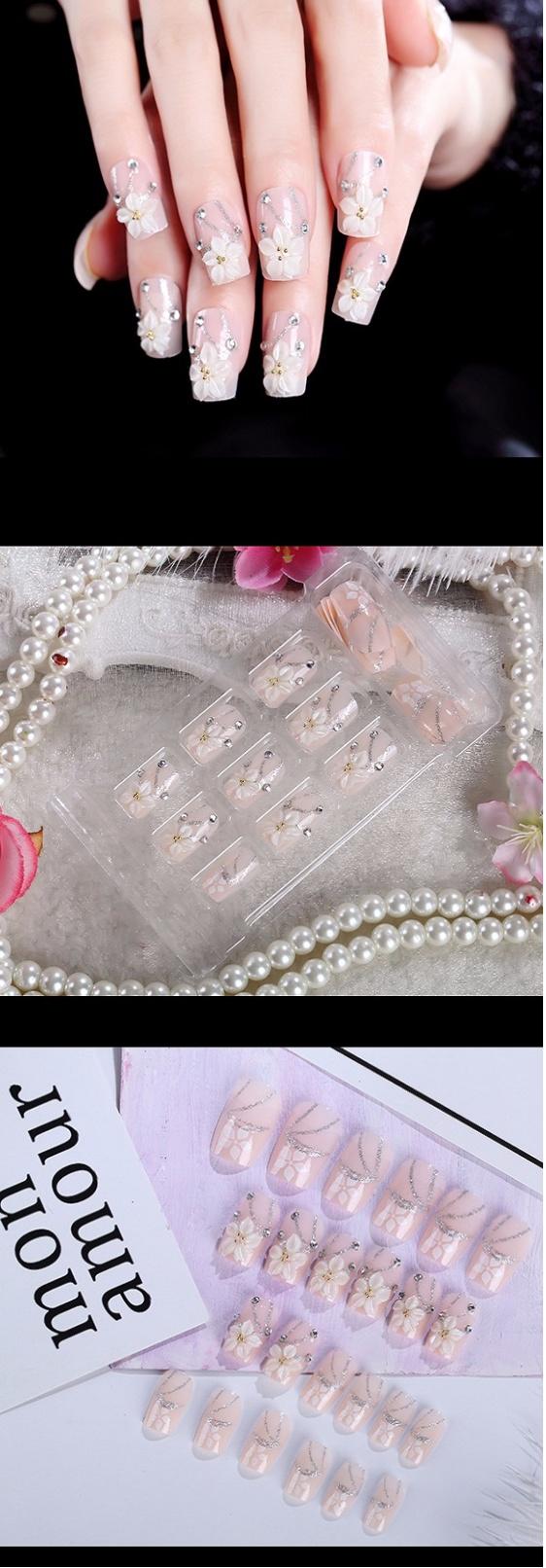 Jual Jbs Nails Kuku Palsu Wedding 3d A39 Harga Rp 40000 Fake Nail Art A18 Reviews