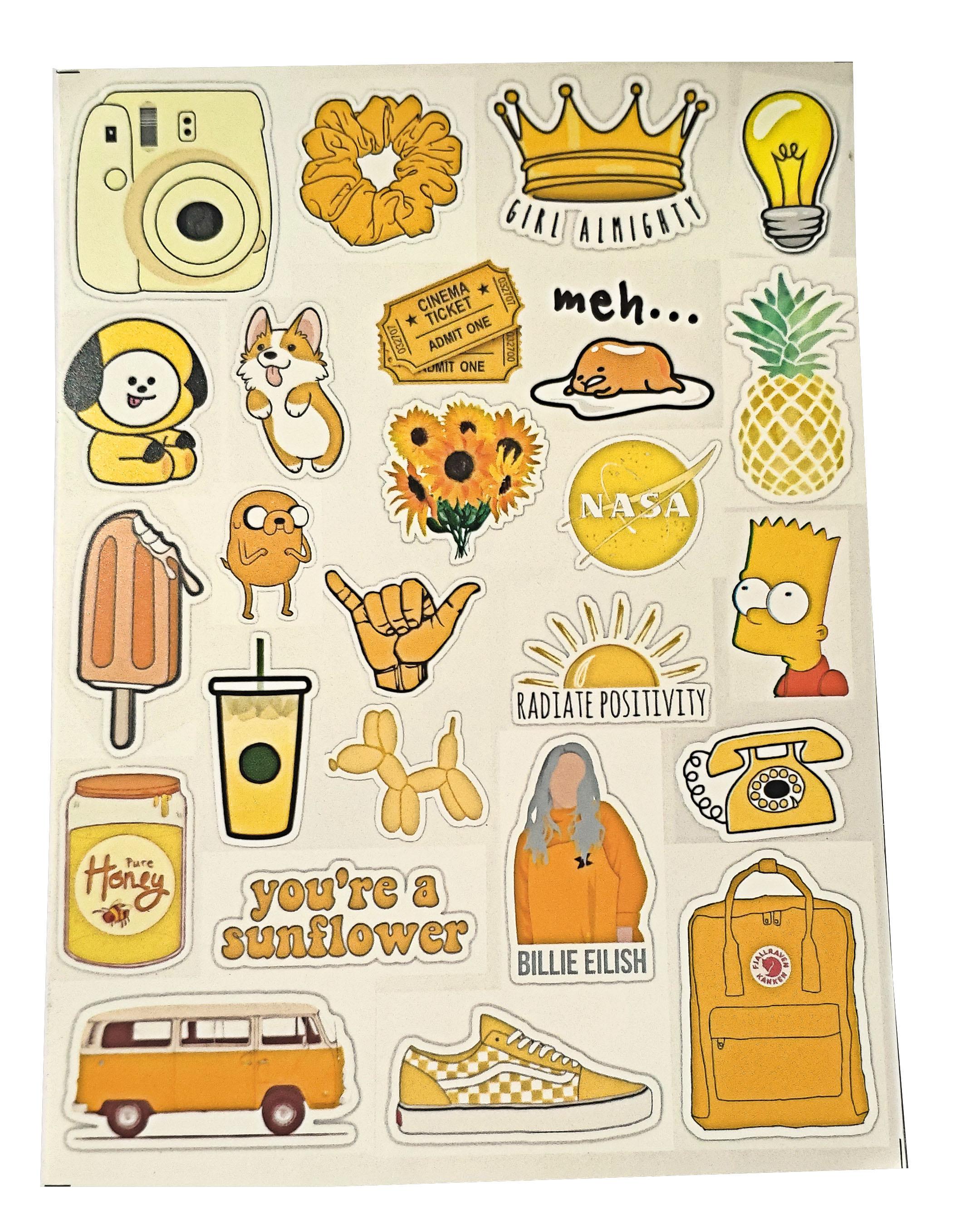 Stiker Aesthetic Tumblr Lucu Dan Cantik Uncutting Stiker Hp Keren Lazada Indonesia
