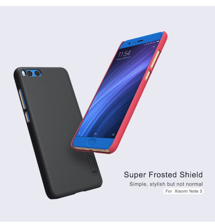 Nillkin For Xiaomi Mi Note 3 Super Frosted Shield Hard Case Original Merah + Gratis Anti