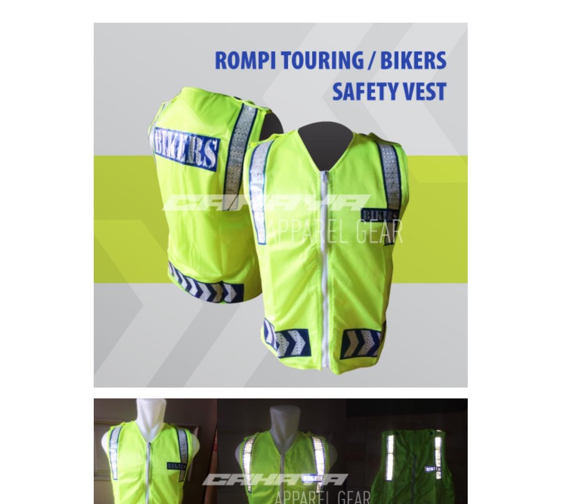 Universal Rompi Vest Motor Touring Biker Body Protector Safety Jala Jaring Scoth X Proyek Hijau List Orange Scotlight Order Via Lazada
