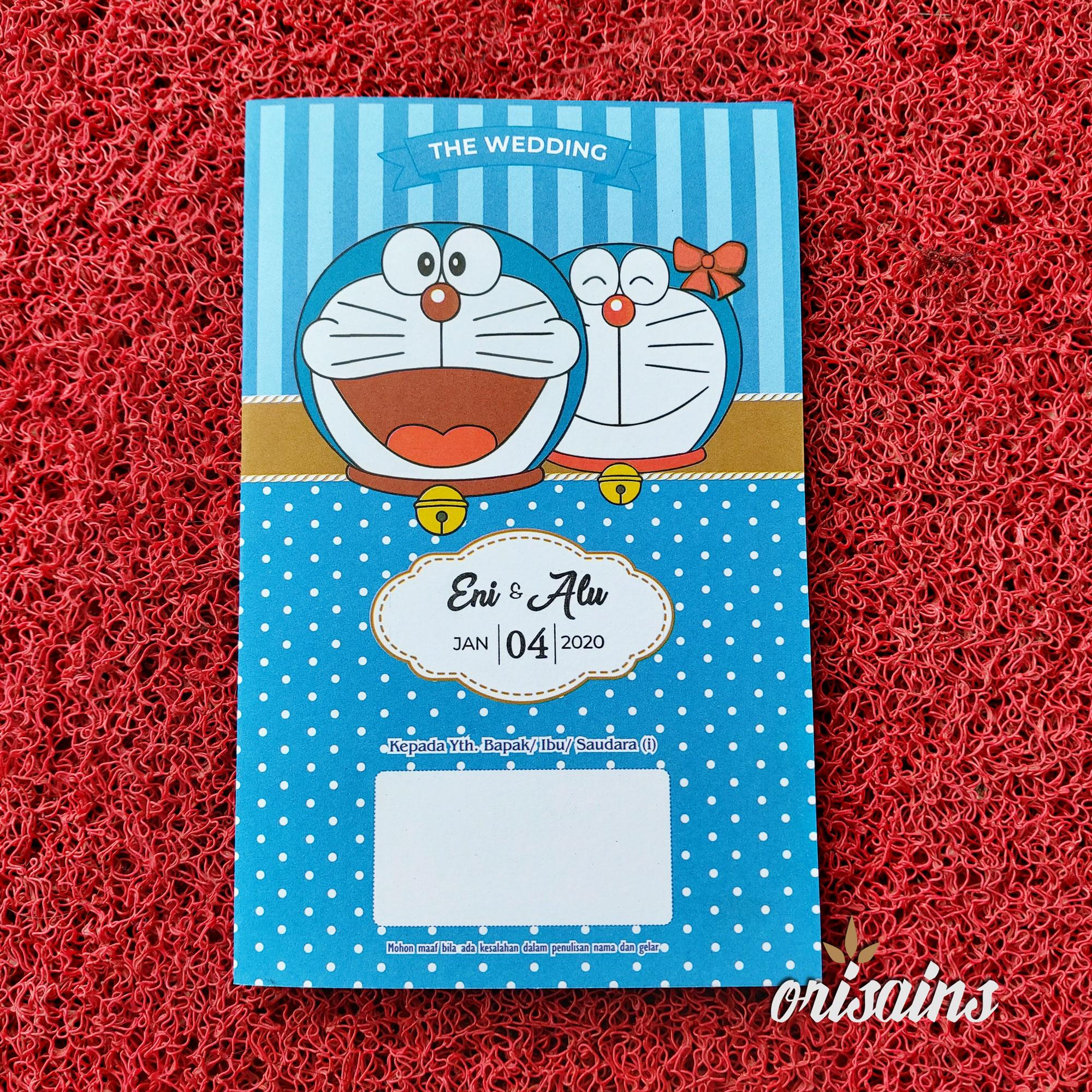 [100 Lembar] Undangan Pernikahan Doraemon Unik Murah Kekinian Nikah Doraemon Min Order 100 Lembar