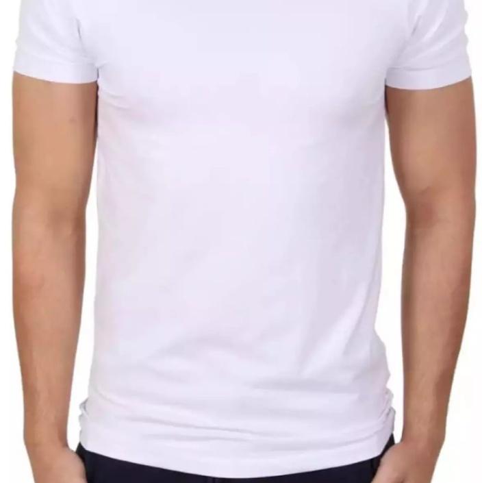 Kaos Oblong Pria Kaos Putih Polos Kaos Dalam Polos Putih Lazada Indonesia