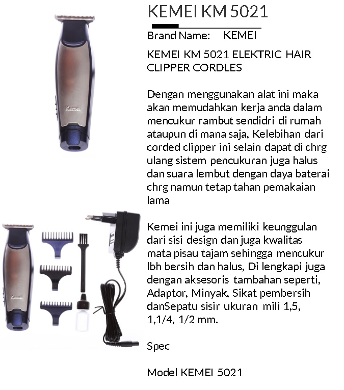 ... Clipper Kemei Detailer KM-5021 Alat Mesin Cukur Rambut Cordless special  edition. Source · Order via Lazada 583c2b03e5