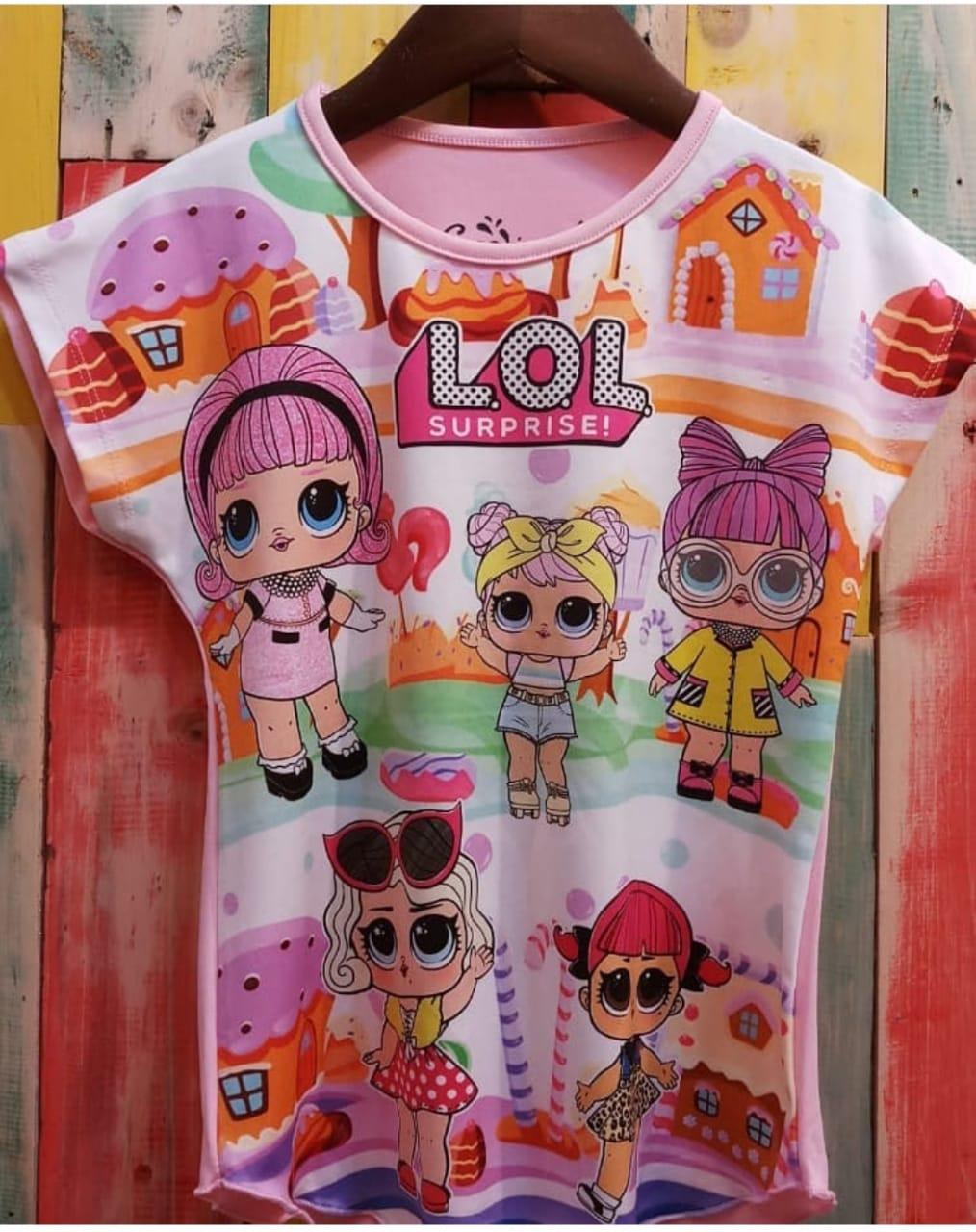 jual baju kaos lol surprise anak perempuan 1  desain baju