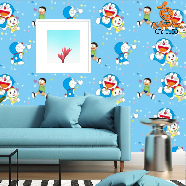 Termurah Wallpaper Stiker Dinding Motif Dan Karakter Premium Higth Quality Size 45cm X 10M Doraemon Awan Doraemon Holiday Wallpaper Stiker