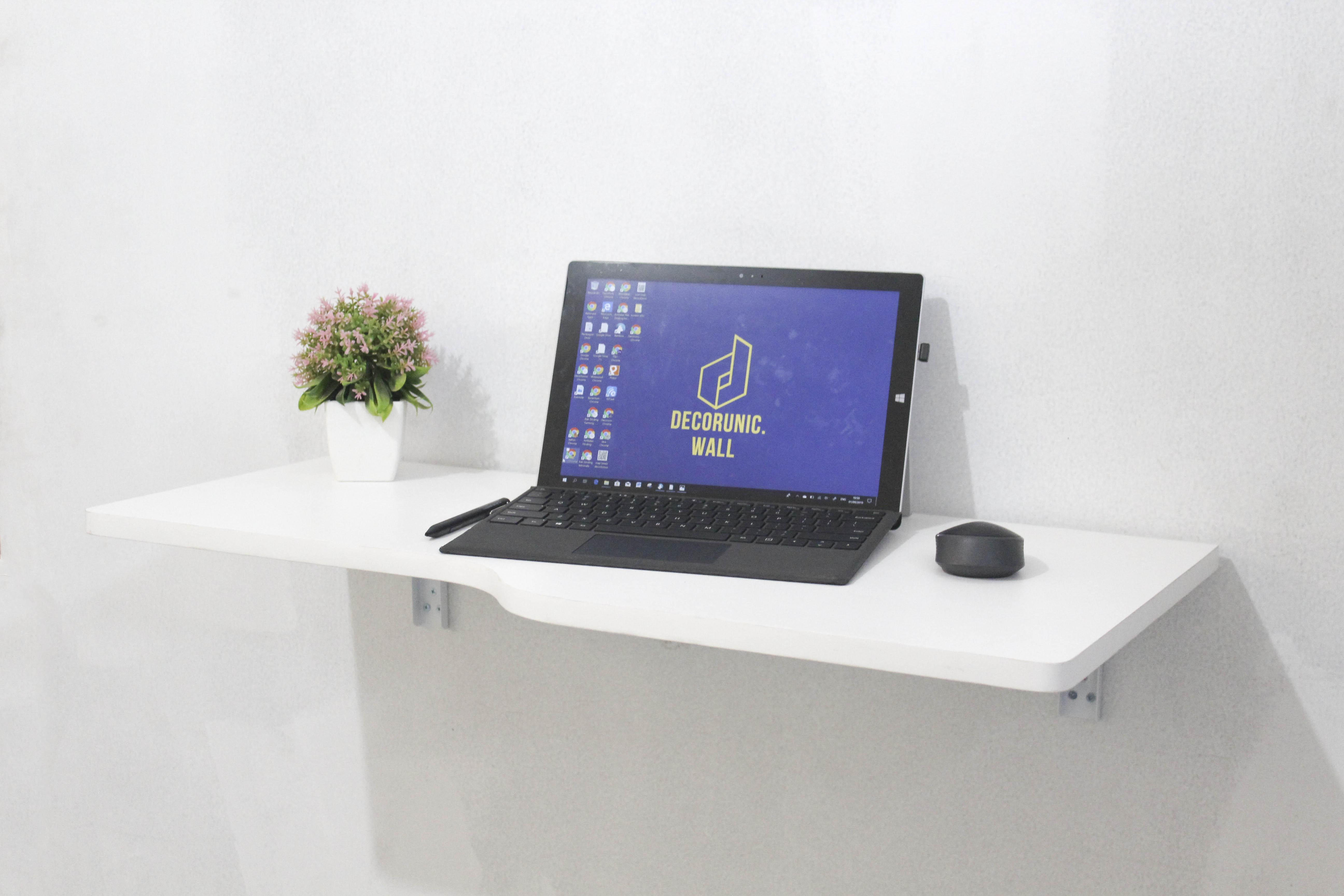 floating desk steffy meja lipat gantung ukuran 81x41 cm meja dinding minimalis bonus skrup fischer i