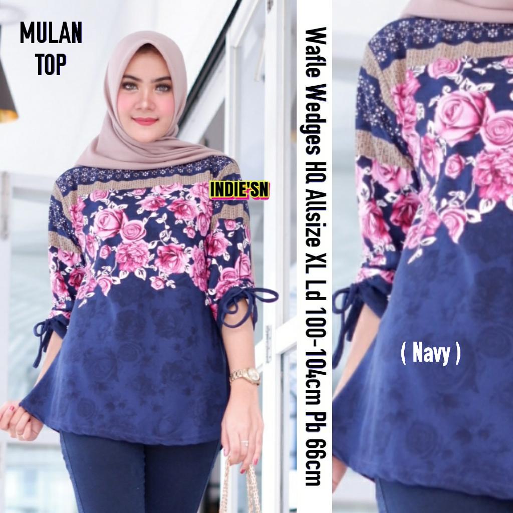 Mulan Top Wafle Wedges Hq Baju Atasan Wanita Terbaru 2019 Baju Tunik Wanita Muslimah Model Baju Tunik Untuk Wanita Gemuk Baju Tunik Cantik
