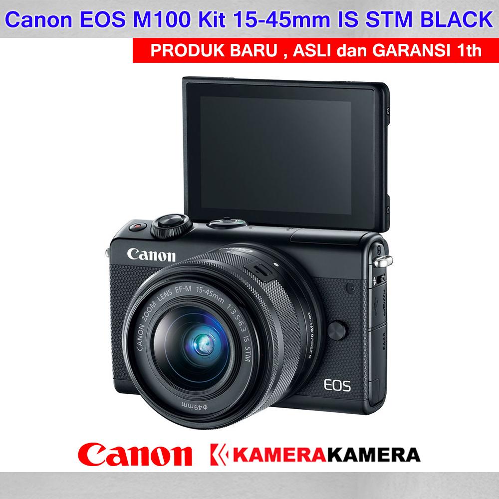 Kamera Mirrorless Canon Eos M100 15 45mm Kamera Vlog Canon M100 Murah Wifi 24mp Full Hd