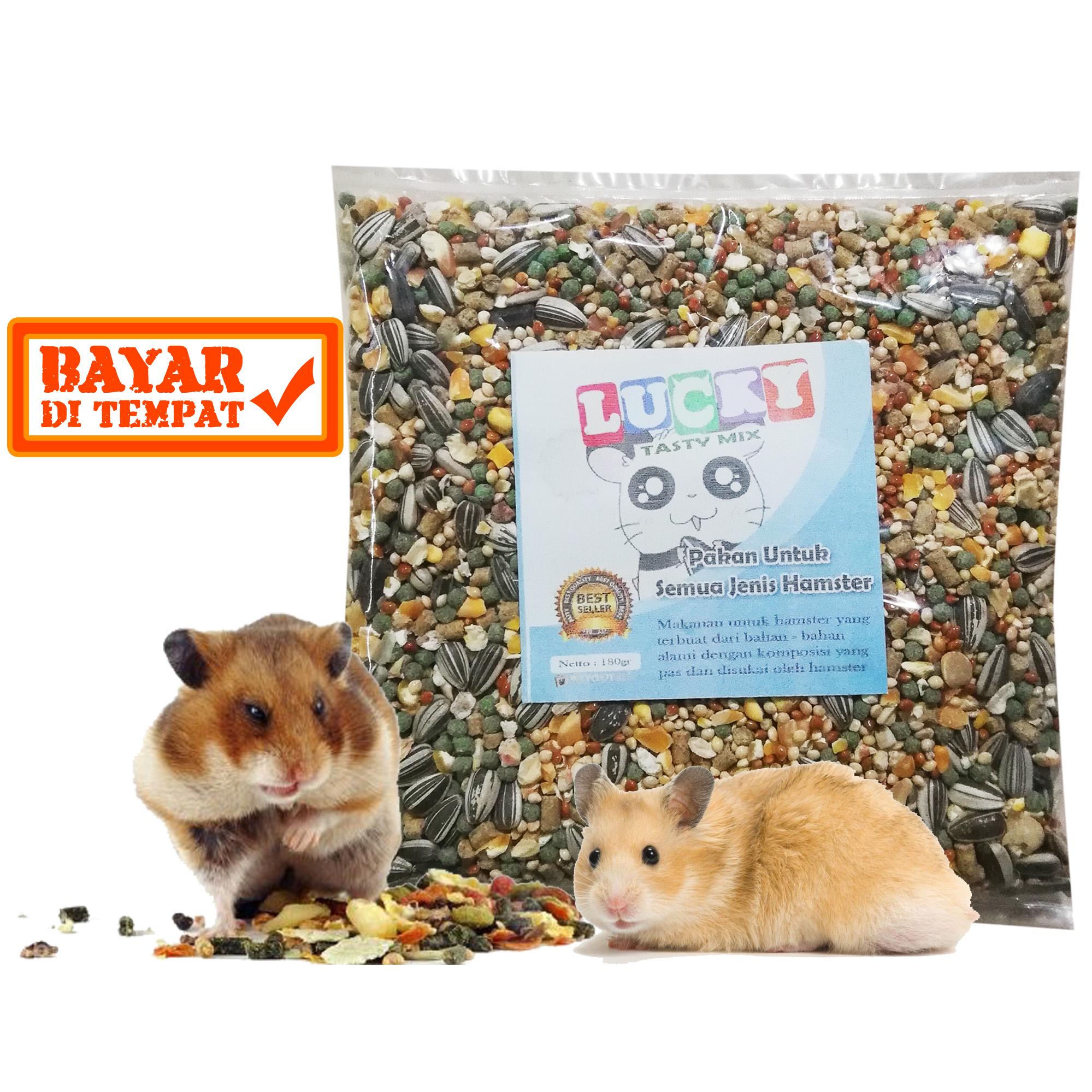 Makanan Hamster Tupai Marmut Sg Landak Lucky Tasty Mix 180gr