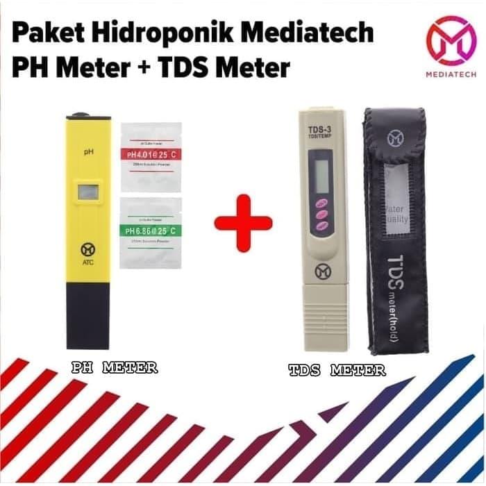 Paket Mediatech Digital Ph Meter Dan Tds Meter Alat Ukur Pada Air
