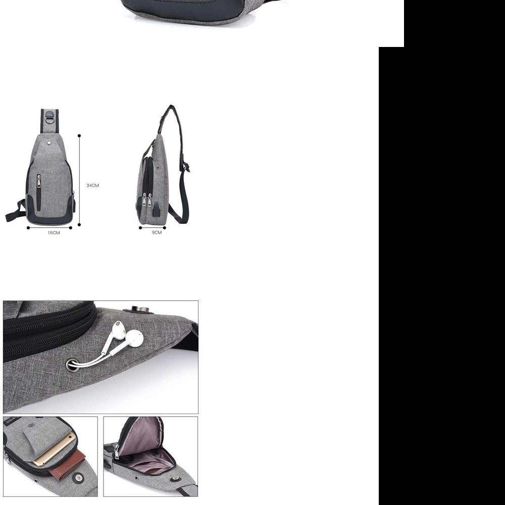 Bintang Acc - Tas Slempang Kancing Magnet Import Impor Slempang Selempang Sling Bag Port Earphone |