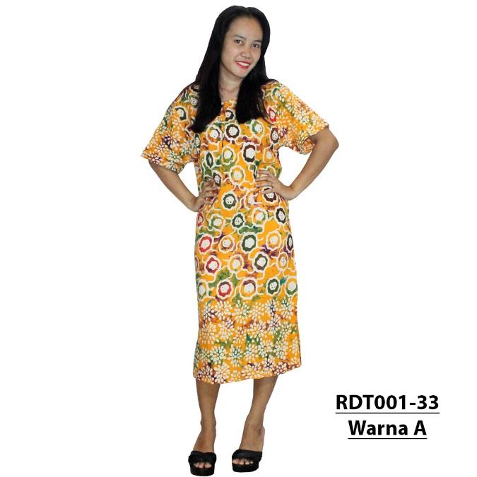 Daster Lengan Pendek Batik Cap Halus Pekalongan. Baju Tidur Leher Kerut  (RDT001-33 bfd9fe1359
