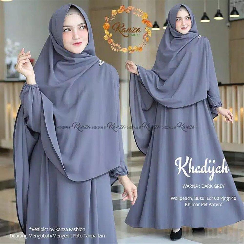 KHODIJAH GAMIS syar;i size XL / gamis set hijab / Gamis syari Set Khimar /  Baju Wanita Terbaru 12 / Gamis / Baju Muslim Wanita Terbaru 12 / Gamis