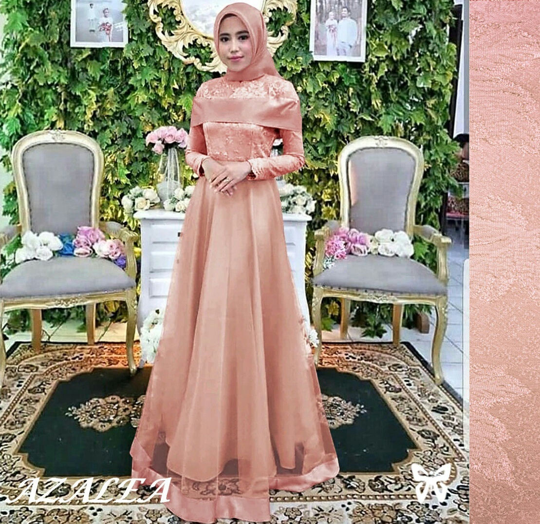 muslim gamis terkini New Azalea - Gamis Pesta - Gamis simple - Gamis  Fashion - Gamis Syari Wanita Terbaru - Gamis Terkini - Gamis Kondangan -  Maxi