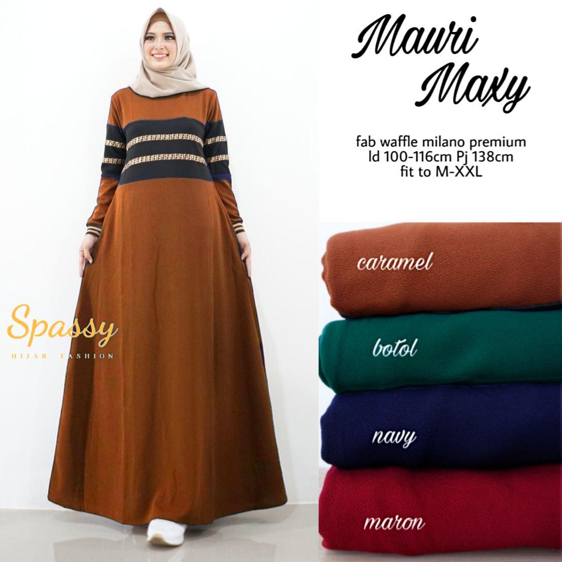 Model Gamis Syari Solo Original Gamis Big Size Jumbo MAURI MAXY Berkualitas  Bagus Murah PROMO Busana Muslim Wanita Berhijab Baju Gamis Wanita Terbaru