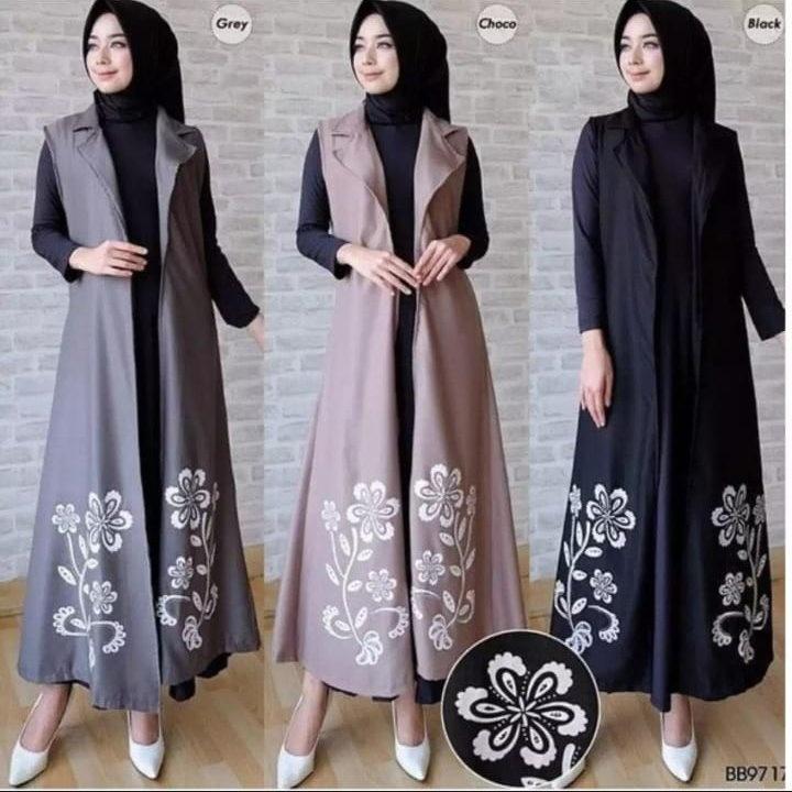 K Fashion Matt Supernova Luaran Muslim Premium Blazer Panjang Wanita Baju Muslim Pakaian Muslim Atasan Muslimah Long Dress Dress Panjang Dress Polos